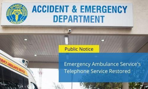 EAS Telephone Service Restored