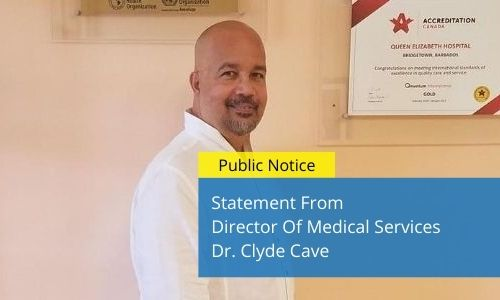 Statement From Director Of Medical Services Dr. Clyde Cave